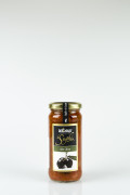 Tomato sauce with olives 220g, De Carlo title=